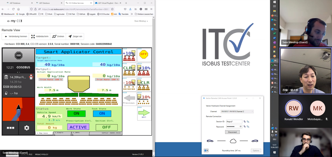 Virtual Plugfest Remote Testing of Section Control - Terminal Screen Mirroring