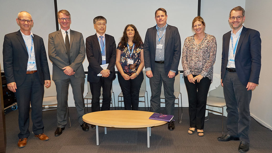 All presenters from the left: Peter van der Vlugt, Dr. Michael Sharpe, Antonio Kung, Michelle Wetterwald, Jim Wilson, Claire d'Esclercs and Norbert Schlingmann